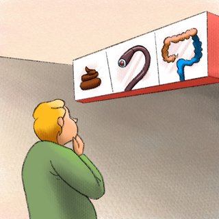 Colon Cancer Screening: The Guidelines and Controversy Artwork