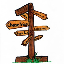 All Roads Lead to Cheese Fries Artwork
